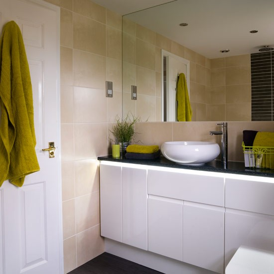 Bathroom with built-in units | Small bathroom ideas ... on Small Bathroom Ideas Uk id=56241
