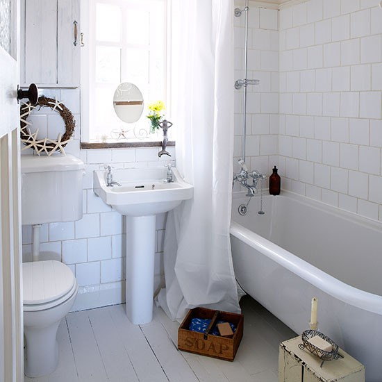 Bathing corner | Small bathroom ideas | housetohome.co.uk on Small Bathroom Ideas Uk id=85279