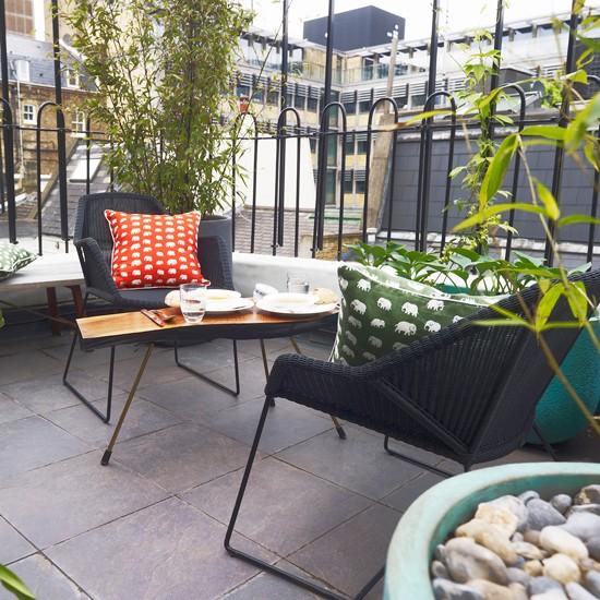 Urban patio city garden with a view | Urban garden ideas ... on Small Urban Patio Ideas id=82113
