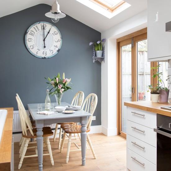 Kitchen Blue Grey Walls