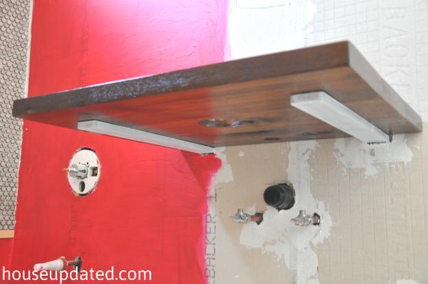 Floating vanity supports for Floating bathroom vanity brackets