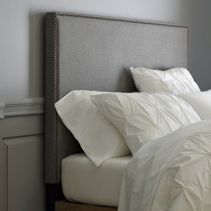 How to Make a Nailhead Upholstered Headboard   House Updated west elm tall nailhead upholstered headboard