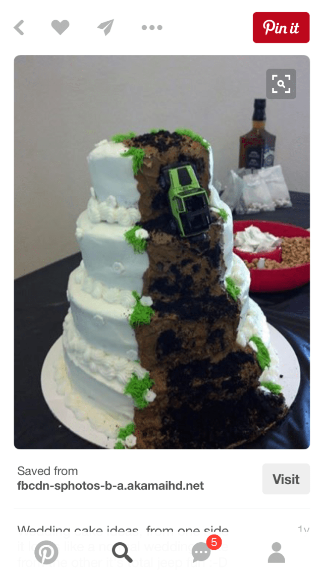 Jeep wedding cake