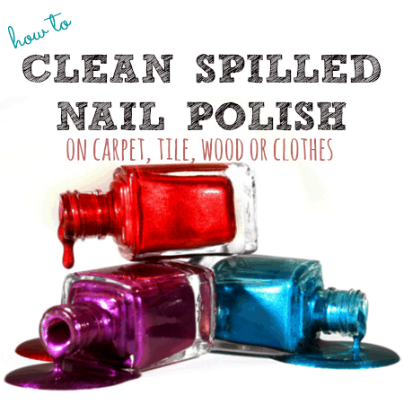 How To Clean Spilled Nail Polish From Housewifehowtos