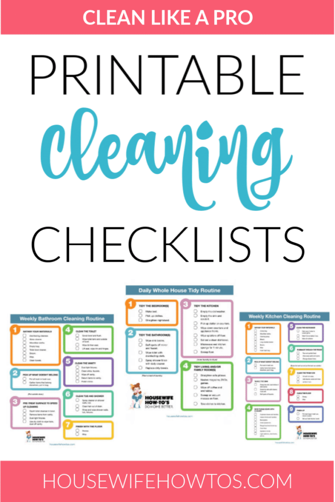 Such checklist templates help you to keep track of your cleaning project and ensure a systematic approach. Cleaning Checklists Free Printable Home Cleaning Routines