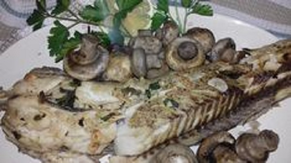 Baked Fish with Mushrooms and Spices! Low-Carb Recipe