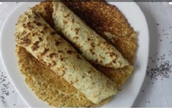 Chia Seeds Crepes with Coconut Flour (Paleo, Keto, & Gluten-Free)