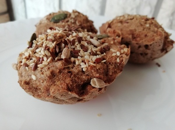 Buckwheat Muffins with Chia Seeds and Yeast Free