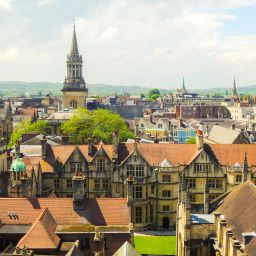 A skyline shot of Oxford city centre.