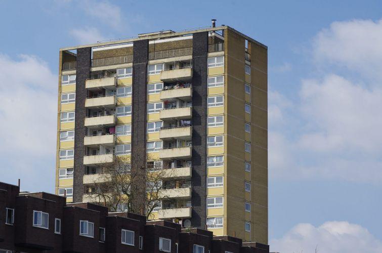 A high-rise flat block in London.