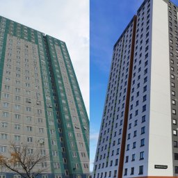 Fitzwarren Court before (left) and after (right) its £7.5 million renovation.