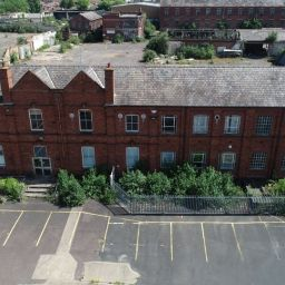 The warehouse at Churchfields, Kidderminster which will be converted into one- and two-bedroom flats.