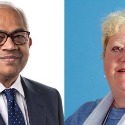 Ravi Rajagopal, chair of Catalyst, and Christine Turner, chair of Rosebery Housing Association.
