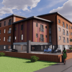 Oaklands, Onward Homes' new housing-with-care scheme for people with dementia, in Fallowfield, Manchester.
