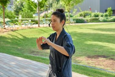 Levy Park On-Demand: Tai Chi in the Park | Kids Out and About Houston