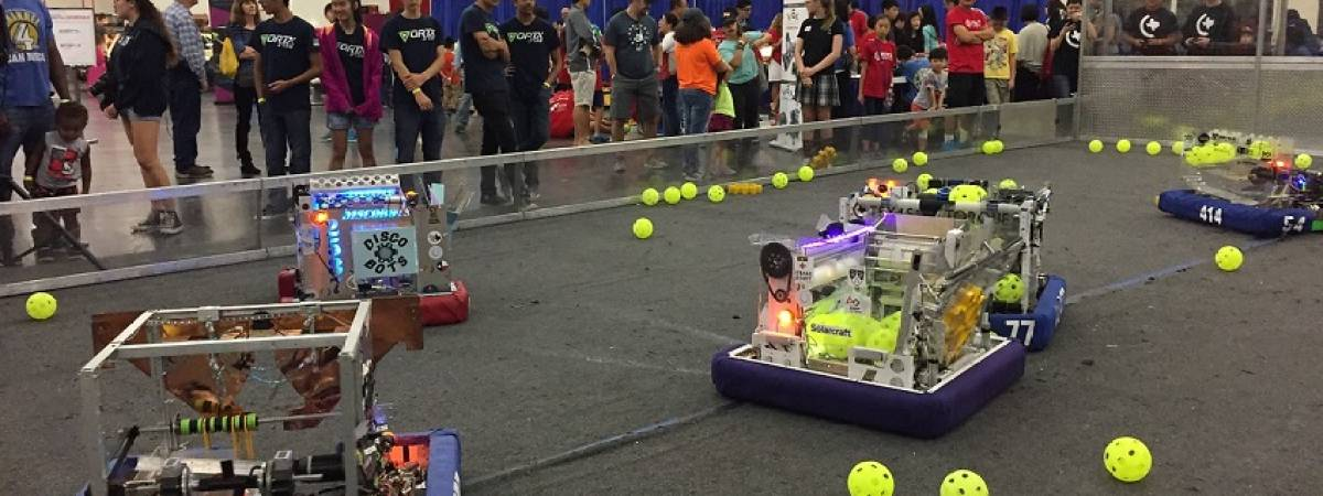 robots at Maker Faire Houston