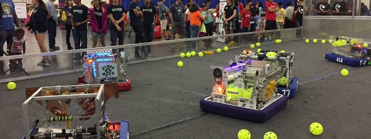 robots at Maker Faire Houston