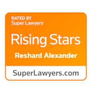 rising stars super lawyer award reshard alexander