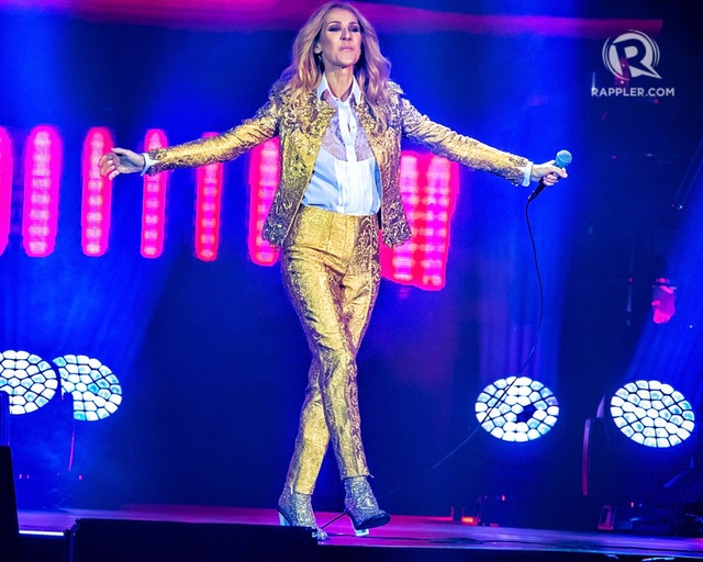 Celine Dion performing in Manila
