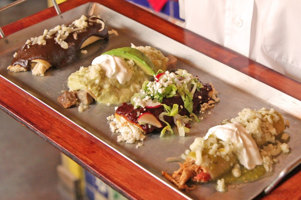 Sylvia's South of the Border Enchilada Sampler