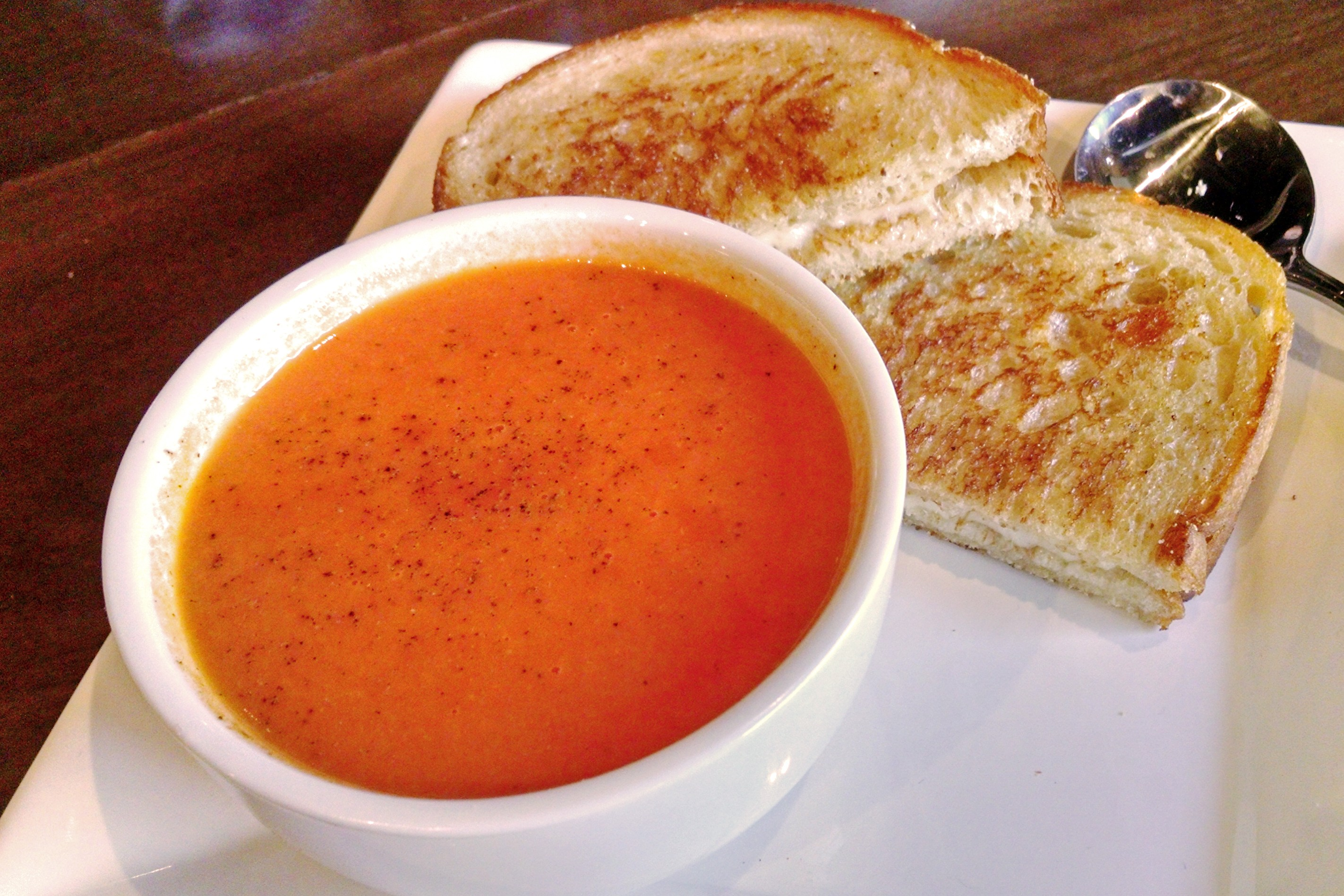 Roasted Tomato Bisque at Bosscat Kitchen