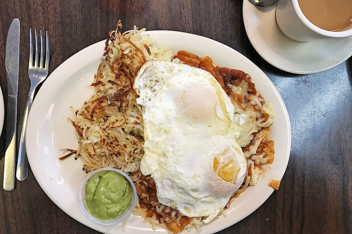 Chilaquiles at Avalon Diner