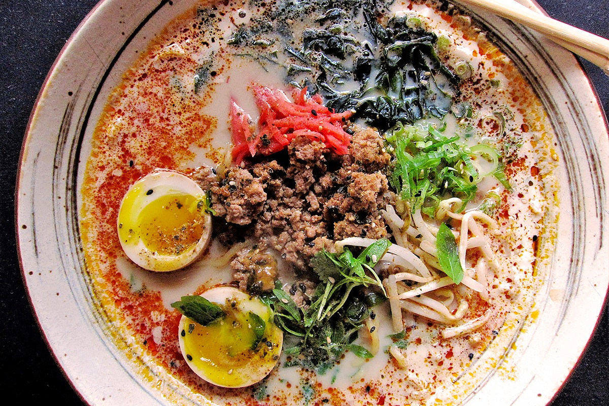 spicy soy ramen at Kata Robata