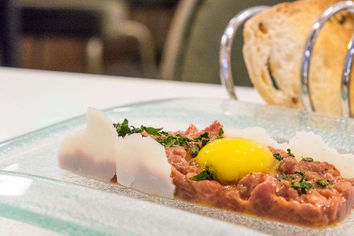 Lamb Tartare at Lucienne