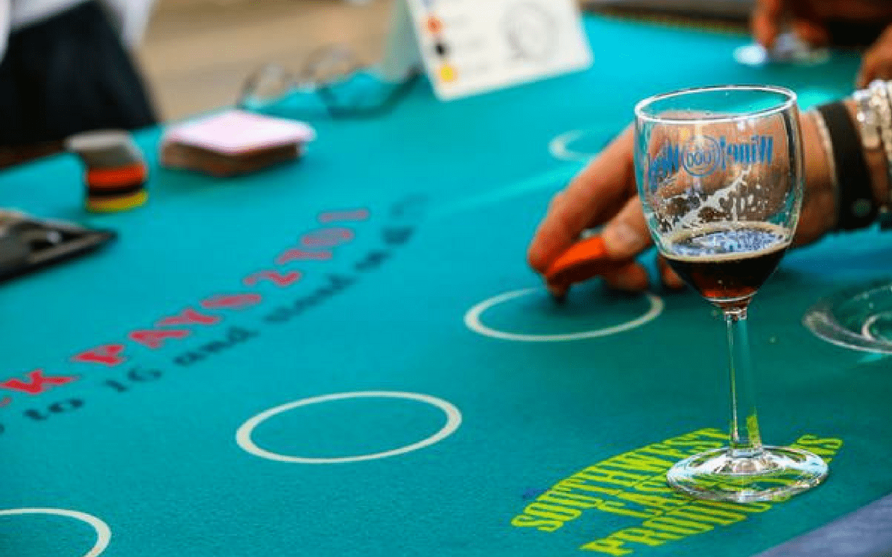 Craft beer and poker at the It's A Guy Thing event.