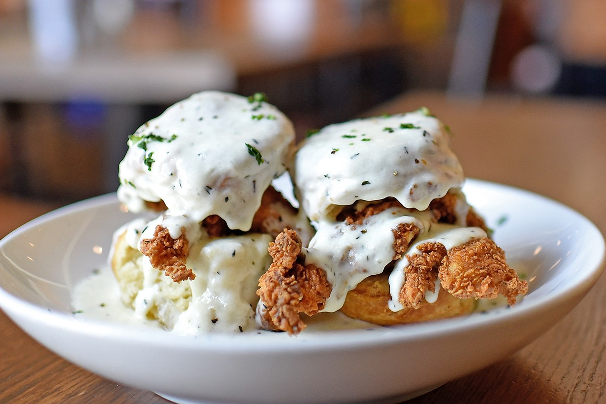 dish society chicken and biscuits
