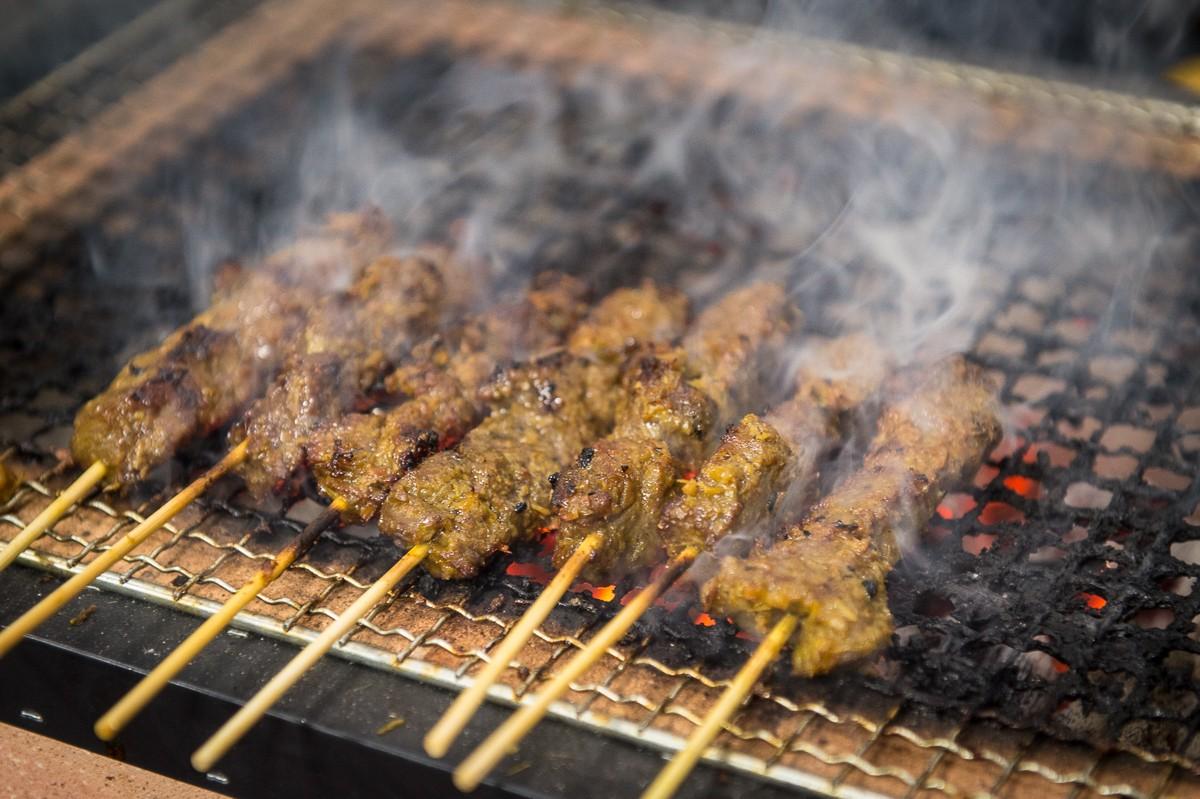 chicken satay skewers at Phat Eatery