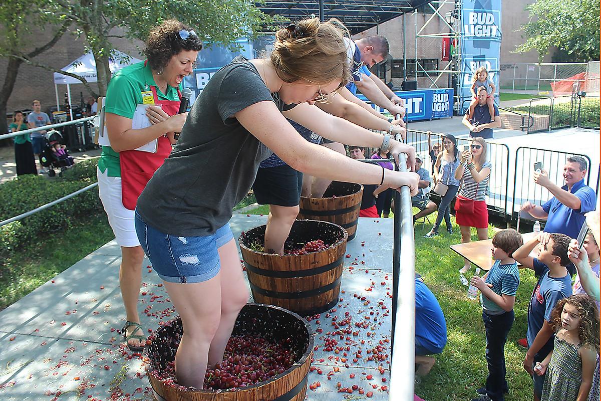 Festa Italiana grape stomping