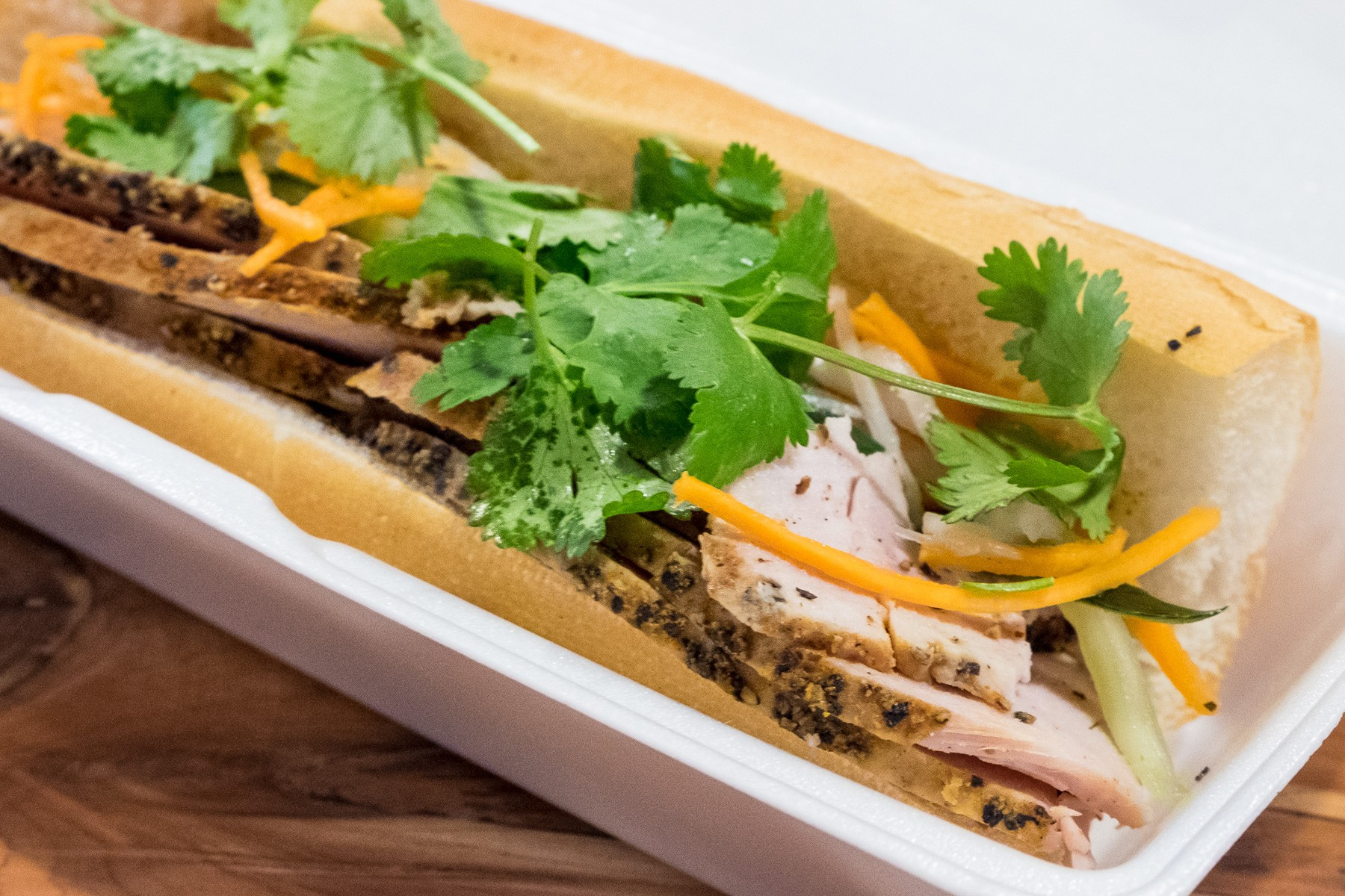 Smoked Turkey Bánh Mì at Blood Bros. BBQ