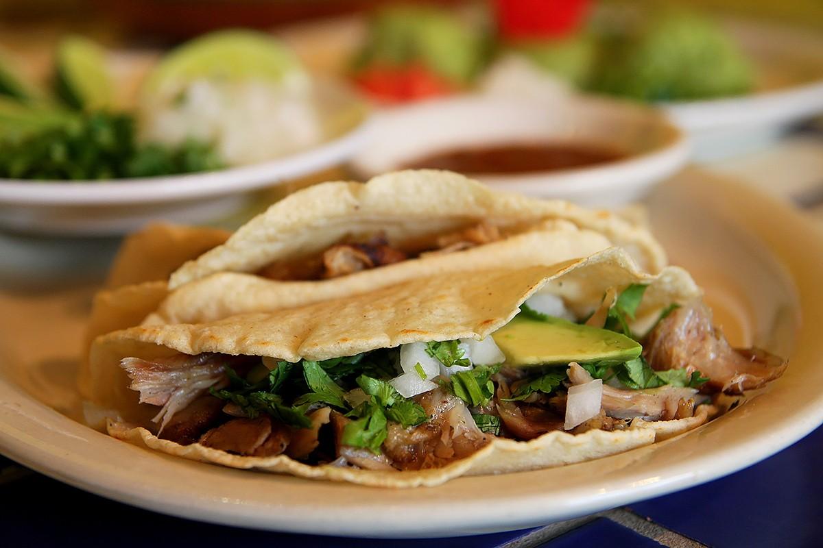 Carnitas tacos at Sylvia's Enchilada Kitchen