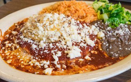 Enchiladas Rojo at Habanera & The Guero