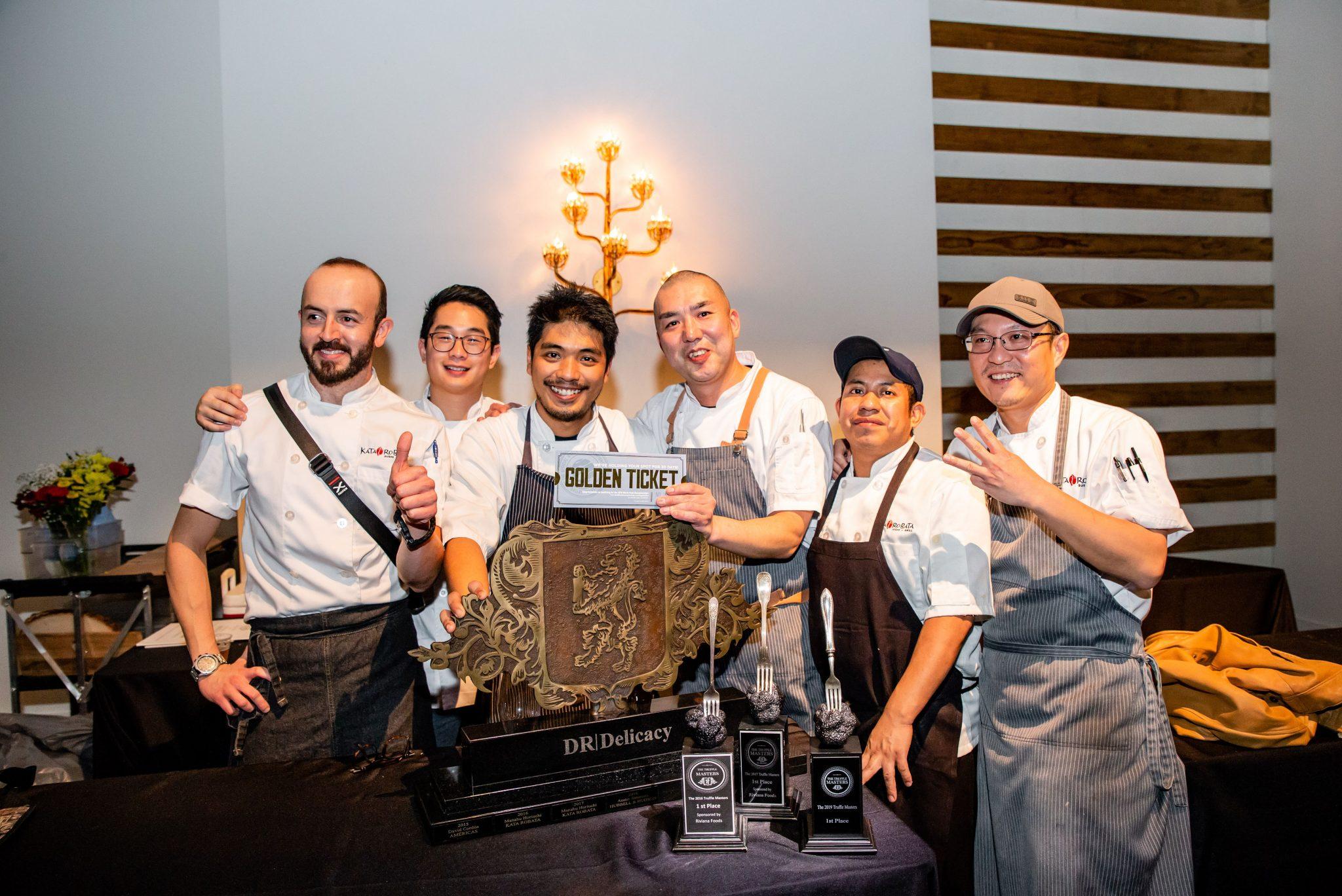 """Chef Manabu """"Hori"""" Horiuchi and his team from Kata Robata celebrate yet another Truffle Masters win"""