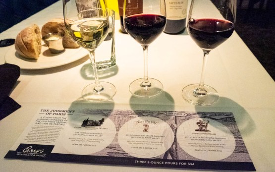 Judgment of Paris wine flight at Perry's Steakhouse & Grille​