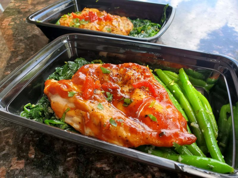 Chicken and vegetable box meal