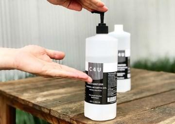 C4U hand sanitizer