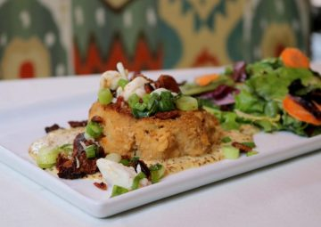 crab cake on plate