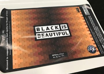 black is beautiful beer label