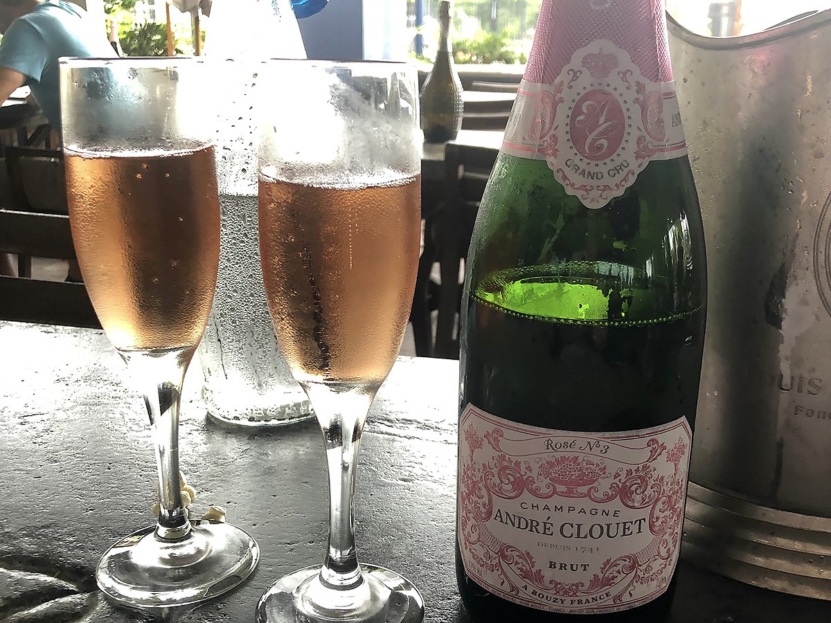 rosé at a'Bouzy