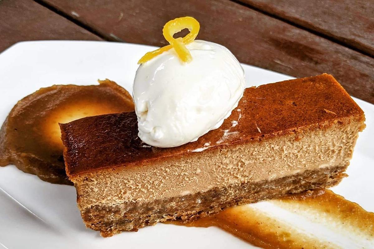 Dak & Bop's Black Sugar Cheesecake