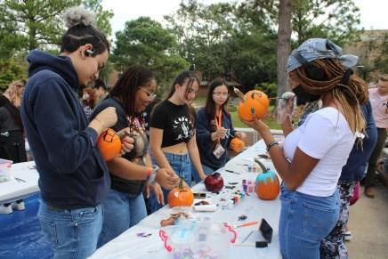 Carving pumpkin fun with Program Council