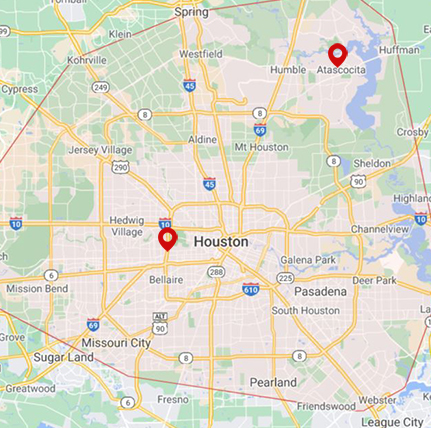 Coverage Map for Houston Jewelry Appraisal