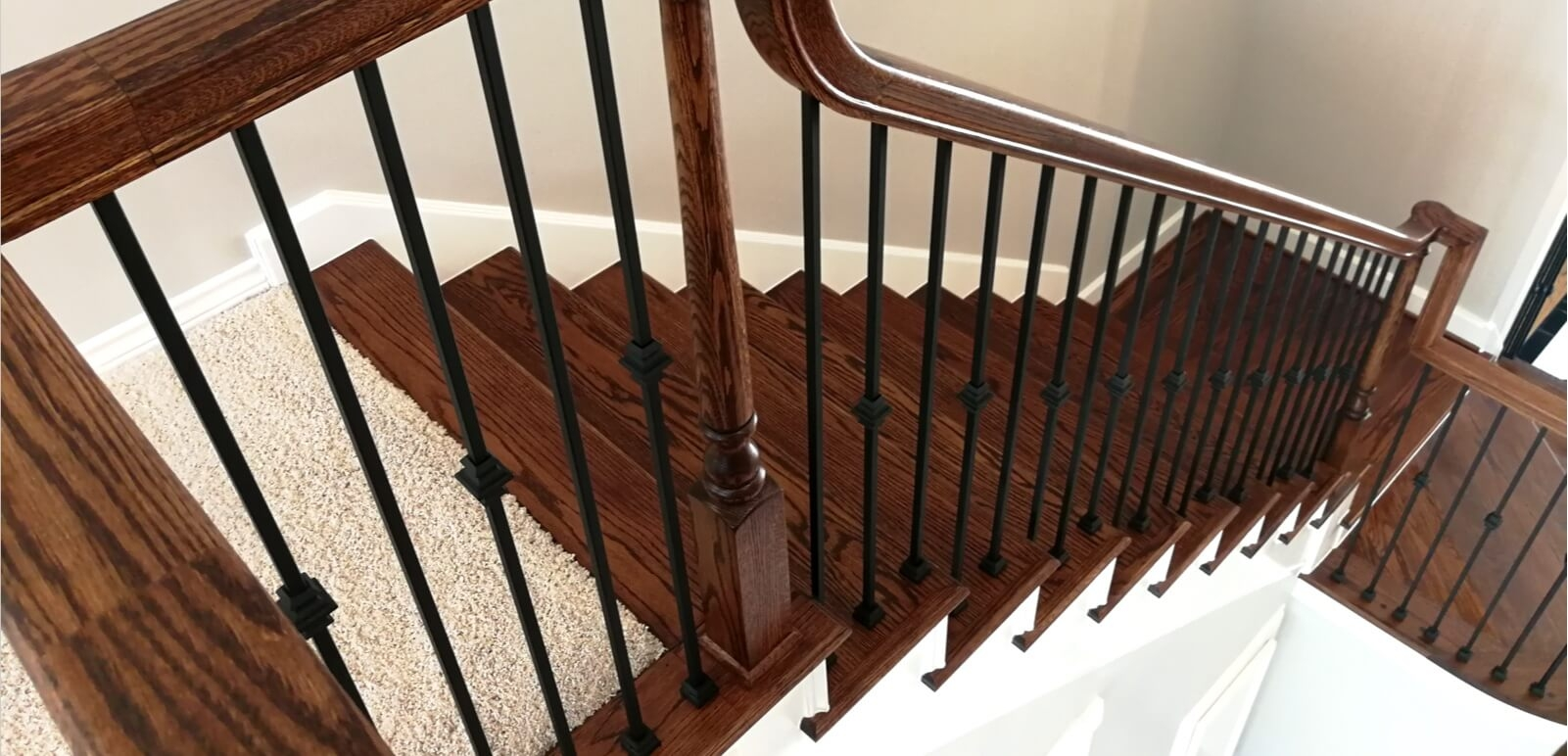 Houston Stair Parts Stair Remodel Iron Balusters Railing   Staircase Renovation Near Me   Flooring   Diy Staircase Makeover   Wood   Stair Case   Paint
