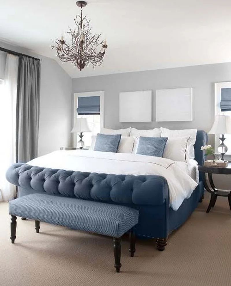 18 blue and gray bedroom ideas that