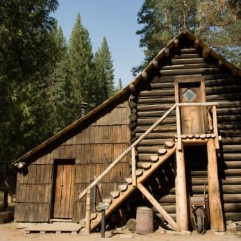 Beautiful log house, Wawona, Yosemite, CA