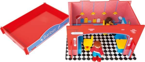 Houten speelgoed kapsalon
