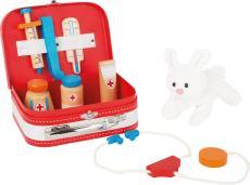 Houten dierenarts set konijn
